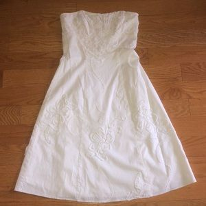 Beautiful White Dress Strapless Dress